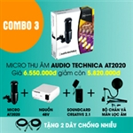 Combo Micro Thu Âm Audio Technica AT2020 3